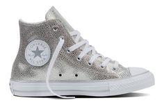 Converse Women's Chuck Taylor All Star Hi Top Stingray Metallic Pure Silver/Black/White