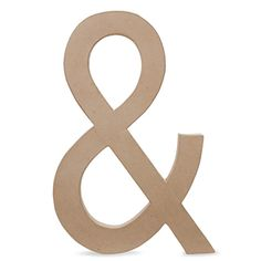 12 inch Paper Mache Letters: Ampersand