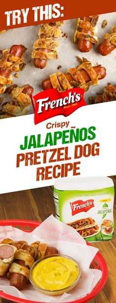 Looking for a new football party recipe idea? We've got you covered with Jalapeno Pretzel Dogs. Best when dipped in Cheddar Beer Sauce. Football Party Foods, Football Food, Pretzel Dogs, Good Food, Yummy Food, Tasty, Planning Budget, Game Day Food, Chapati