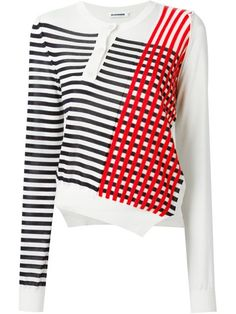 Jil Sander Striped Asymmetric Jumper - Coltorti - Farfetch.com