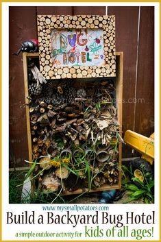 Build a Backyard Bug Hotel...A simple and engaging outdoor activity for kids of ALL ages! via www.mysmallpotatoes.com