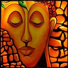 Budhha oil painting