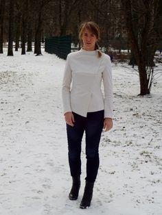 kurtka Burda 1/2015 model 104 A; wool jacket