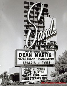Sands hotel sign and marquee from the 50's