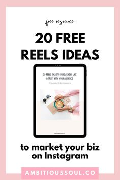 Not sure how to get started with Instagram reels but know that they're the key to growing on Instagram? These 20 free Instagram reels ideas are easy to make and will build connection with your audience. These Instagram reels ideas are perfect for marketing your business on Instagram! Download your free reels ideas now. Latest Instagram, Free Instagram, Instagram Life, Social Media Plattformen, Entrepreneur Motivation, Content Marketing Strategy, Connection, Key, Business