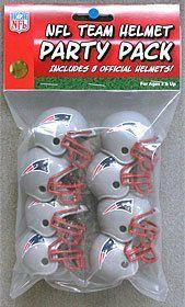 New England Patriots Team Helmet Party Pack