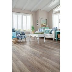 Shop STAINMASTER 10-Piece 5.74-in x 47.74-in Washed Oak - Dove/Gray Floating Rustic Luxury Vinyl Plank at Lowes.com