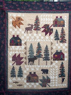 Quilt Patterns with North woods flair, Quilts with bears and moose ... : northwoods quilt - Adamdwight.com