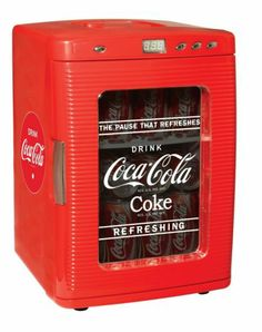 Coke Coca Cola Mini Fridge Vintage Look Garage Home Office Game Room Dispenser