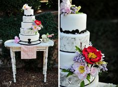 Parisian vintage french wedding cake, shabby chic cake table, pink white black