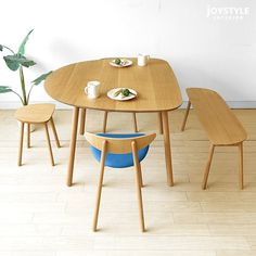 joystyle-interior: The LIPO-DT outward opened slim leg which I can use as a pretty counter table of 3 size Japanese oaks materials Japanese oak innocent materials semiellipse shape of dining table in width directs a room with a feeling of Dining Furniture, Dining Chairs, Dining Room, Dining Table, Adjustable Legs, Smart Design, Wood Texture, Panel Curtains, Decoration
