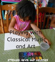 Fun with Music: Classical Music and Creative Art Project from Strings, Keys, and Melodies Preschool Music, Music Activities, Teaching Music, Learning Piano, Music Games, Kids Learning, Piano Lessons, Music Lessons, Music Education