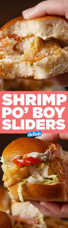 If you've never had Shrimp Po' Boy, you need to try these sliders. Get the recipe on Delish.com.