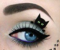 Kitten eye makeup