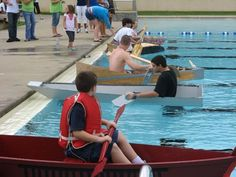 Participate in the Gypsy Hill Plywood Boat Regatta Sunday, July 28. Boats must be built from only plywood, fasteners, duct tape, and 2'' by 4'' s. A perfect project for a parent-child team!  http://www.staunton.va.us/directory/departments-h-z/recreation-parks/recreation/recreation-events/gypsy-hill-plywood-boat-regatta-3