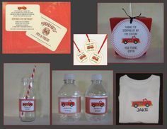 Firetruck Invitation/Announcement/Stationery  by BabadooDesigns, $18.00