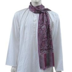 India Dress Pashmina Scarf for Men 12 x 60 inches