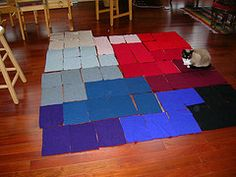 Make a blanket from sweaters