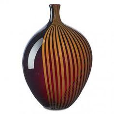 """LINO TAGLIAPIETRA (b. 1934) EFFETRE INTERNATIONALE Glass vase, Murano, Italy, 1982; Etched LINO TAGLIAPIETRA F31 MURANO 93/100 1982, original Oggetti decal label; 9 1/2"""" x 6"""""""