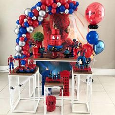how to organize creative ideas (PHOTOS) - Birthday FM : Home of Birtday Inspirations, Wishes, DIY, Music & Ideas Happy Birthday Spiderman, Spiderman Theme Party, Avengers Birthday, Superhero Birthday Party, Birthday Themes For Boys, Baby Boy Birthday, 3rd Birthday Parties, Birthday Party Decorations, Photos