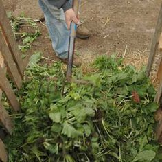 "Making a Compost Bin: from Organic Gardening. Adding a balanced mix of ""greens"" and ""browns"" to the compost pile is essential. Garden Compost, Garden Soil, Fruit Garden, Vegetable Garden, Garden Plants, Organic Compost, Organic Gardening, Gardening Tips, F22"