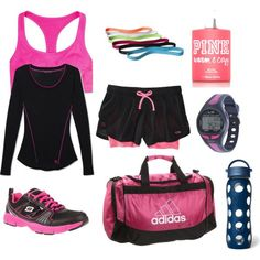 Workout outfit . I want that water bottle. Actually I want the whole outfit!