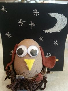 Owl decorated egg for school...it won!