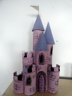 Extraordinary Surprising Craft Projects with Toilet Paper Rolls : Best Toilet Paper Roll Crafts for Kids: Beautiful Castle Crafts For Kindergarten With Purple Toilet Roll Craft Ideas ~ advpow.com Paper Crafts Inspiration