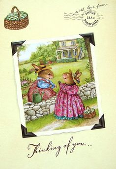 Susan Wheeler Holly Pond Hill Bunny Rabbit Friend Thinking Of You Greeting Card   eBay