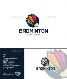 Buy Badminton by andiasmara on GraphicRiver. Badminton is a sophisticated and colourful logo template with badminton themes. Badminton Logo, Badminton Sport, Badminton Pictures, Adobe Illustrator Tutorials, Ai Illustrator, Logo Branding, Logos, Symbol Logo, Logo Color