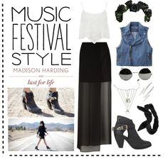 """Music Festival Style"" by brittclark ❤ liked on Polyvore"