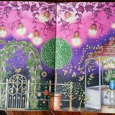 Que linda essa página dupla! @Regrann from @plexus_cat 👈 #jardimsecreto #secretgarden #coloringbook  #johannabasford #adultcoloring #desenhoscolorir