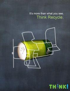 THINK Recycling Campaign by Farah Hany at Coroflot.com