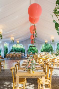 Whimsical tables: http://www.stylemepretty.com/canada-weddings/ontario/toronto/2015/03/25/colorful-summer-wedding-at-the-miller-lash-house/ | Photography: Lavish & Light - http://www.lavishandlight.com/