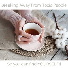 Breaking away from toxic people can be difficult but it is possible to do. It all starts with how you allow then to treat you. Treat Yourself, Make It Yourself, Toxic People, Mystic, Healing, Therapy, Recovery