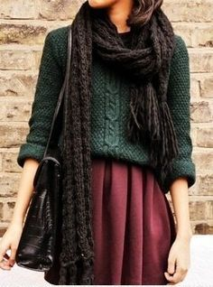 Green and burgundy