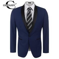 COOFANDY Formal Suit Gentlemen Wear 2017 Newest Male Clothes Slim Fit One Button Business Jacket Suit #Affiliate