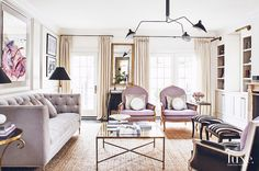 7 Simple Tips to Make Your Living Room Look Expensive via @MyDomaine A layered, thoughtful mix of materials and textures will give your space a custom-designed, luxurious look. Mix metals, glass, wood, a variety of textiles, and leather items to create a dynamic, inviting space.