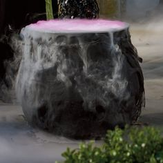 Our Foggy Halloween Cauldron uses no chemicals, so requires no muss or fuss — even Frankenstein could do it. Instead, our Cauldron uses tap water and plugs into a standard outlet. All you have to do is stand back and enjoy the appropriate eerie effects. Spooky Halloween Costumes, Halloween Tombstones, Halloween Haunted Houses, Outdoor Halloween, Halloween Make Up, Halloween Themes, Vintage Halloween, Halloween Decorations, Halloween 2020
