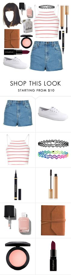 """It's a metaphor"" by annalaris on Polyvore featuring Topshop, Keds, Glamorous, Accessorize, Yves Saint Laurent, Chanel, Eccolo, MAC Cosmetics and Smashbox"