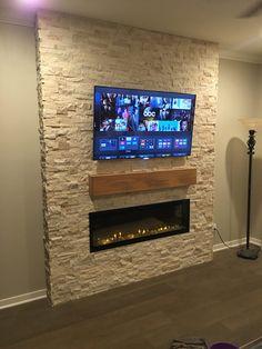 Built a feature fireplace wall (#QuickCrafter)