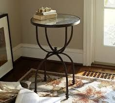 Image result for pottery barn round metal side table