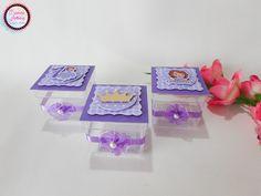 Caixa Acrílica 3D Tema Princesa Sofia