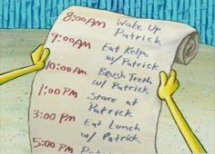 Todo Liste over Spongebob