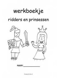 Werkboekjes ridders en prinsessen History Projects, Medieval Times, Kids Education, Learning Activities, Knight, Homeschool, Comics, Stage, Pdf