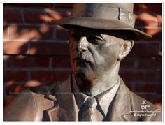 William Faulkner statue photo taken in downtown Oxford Mississippi by theRDBcollection, $24.00 | Perfect for the Southern literature fan