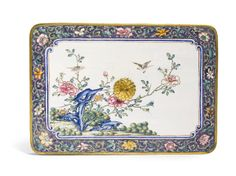 C18th Chinese Painted Enamel on Metal Three-Tiered Box and Cover Qianlong Seal Mark and Period - Sotheby's