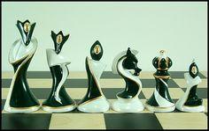Art Deco Chess Set. . .Yummm!