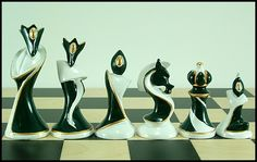 Art Deco Chess Set. . .