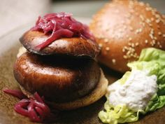Grilled Portobello Burger with Onion Jam – Meatless Monday : foodnetwork
